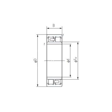NNU4956 NACHI Cylindrical Roller Bearings